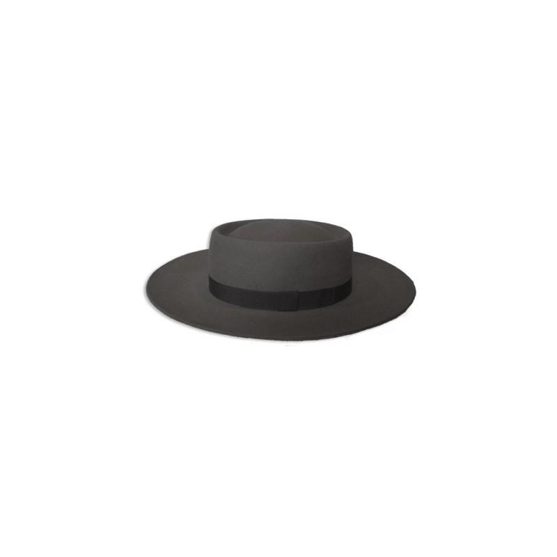 Sombrero Lagomarsino Plato Redondo Ala 9 Negro