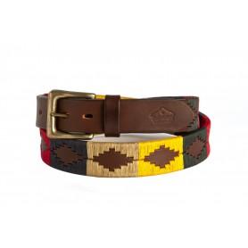 Cinturón Bordado Multicolor de Suela Luppi