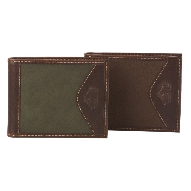 Billetera Dólar de Cuero Doble Tarjetero