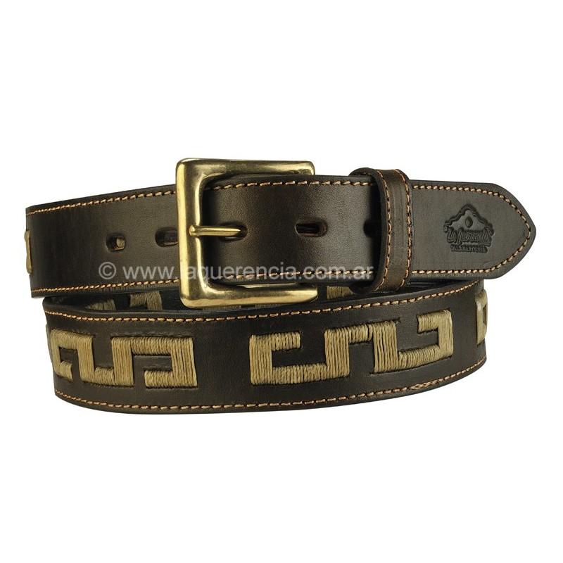 Cinturón Bordado Mapuche de Suela Luppi