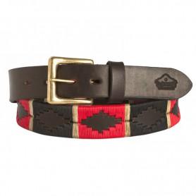 Cinturón Bordado Bicolor de Suela Luppi