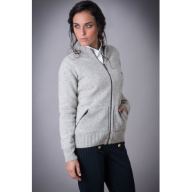 Campera Lambswool con Bolsillos Gris