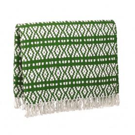 Matra de Algodón Combinada Verde y Blanco