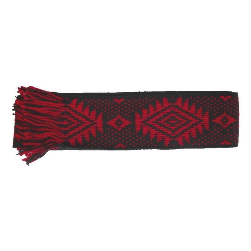 Faja Mapuche Negro y Rojo de 9 Cmts.