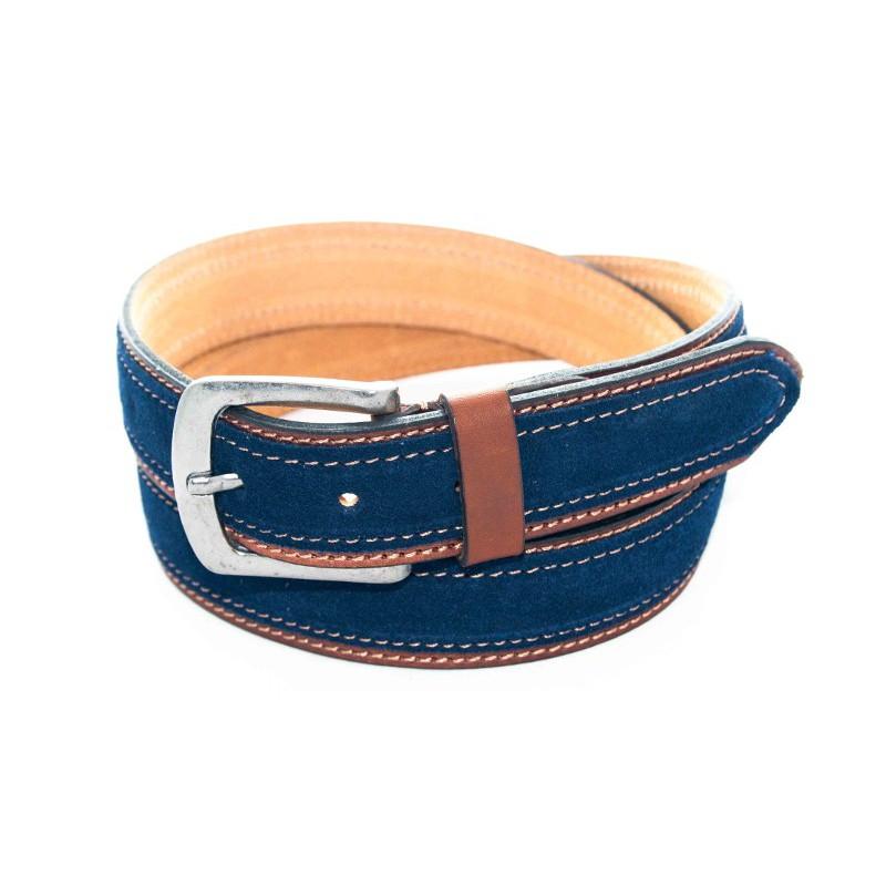Cinturón de Gamuzón Azul Enmarcado